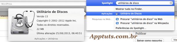 Procurar no spotlight Mac