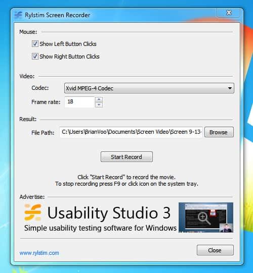 Como gravar a tela do PC com o Rylstim