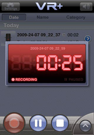 VR+ para gravar a voz no iPhone