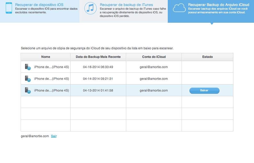 recuperar arquivos do iCloud