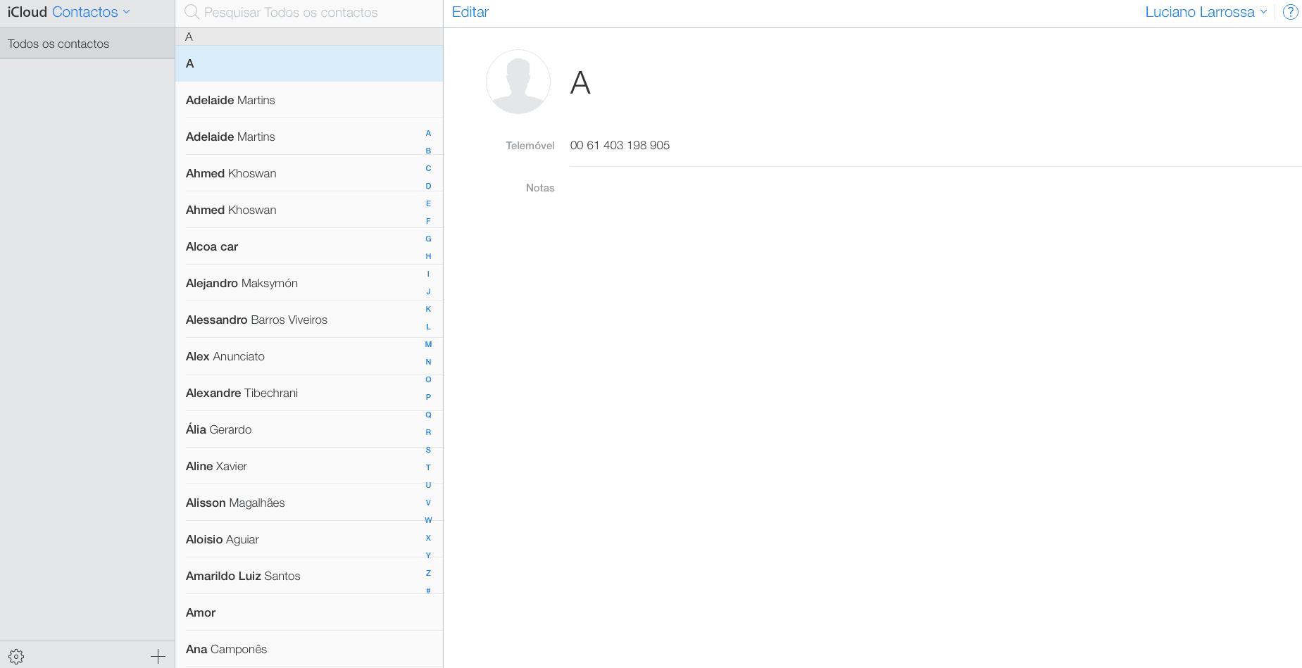 exportar os contatos do iPhone iCloud