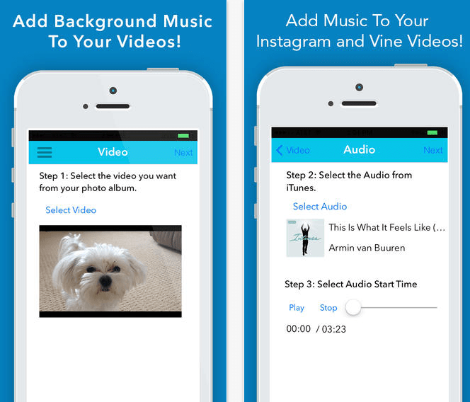 adicionar músicas a vídeos BackGround Music