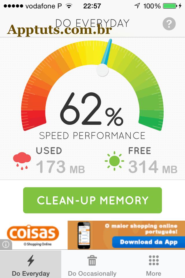 Cleaner no iPhone segundo passo