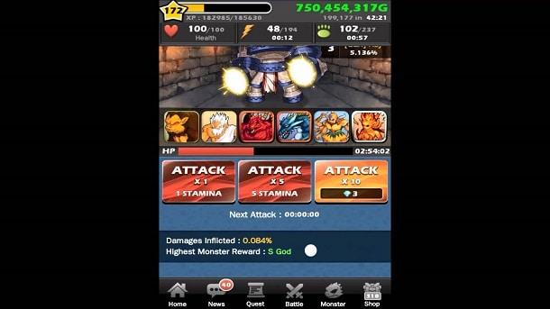 Monster Warlord para Android
