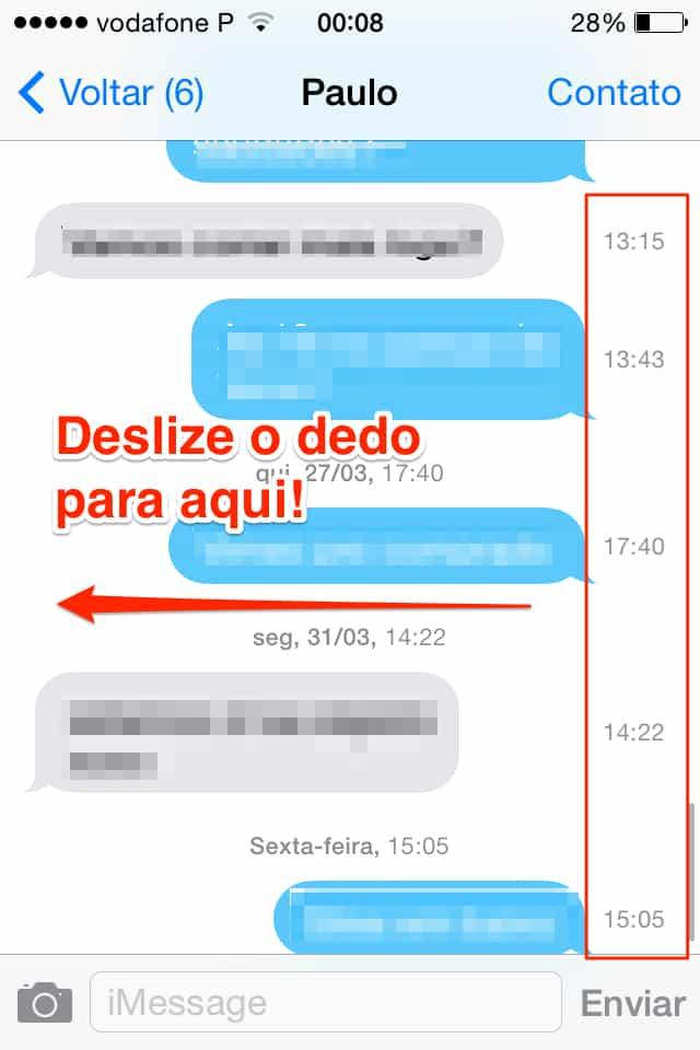 coisas incomuns que o iPhone faz horários das mensagens