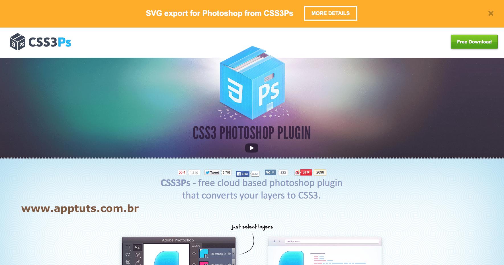 extensões grátis CSS3PS