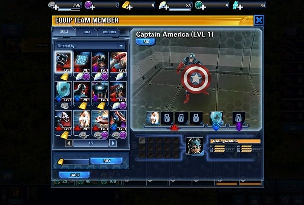 Preview Avengers Alliance Tactics para Facebook