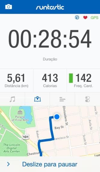 aplicativos de corrida para iPhone Runtastic
