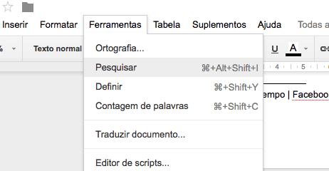 segredos do Google Drive documento