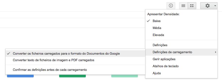 segredos do Google Drive Definições