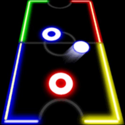 Glow Hockey 2 como jogar
