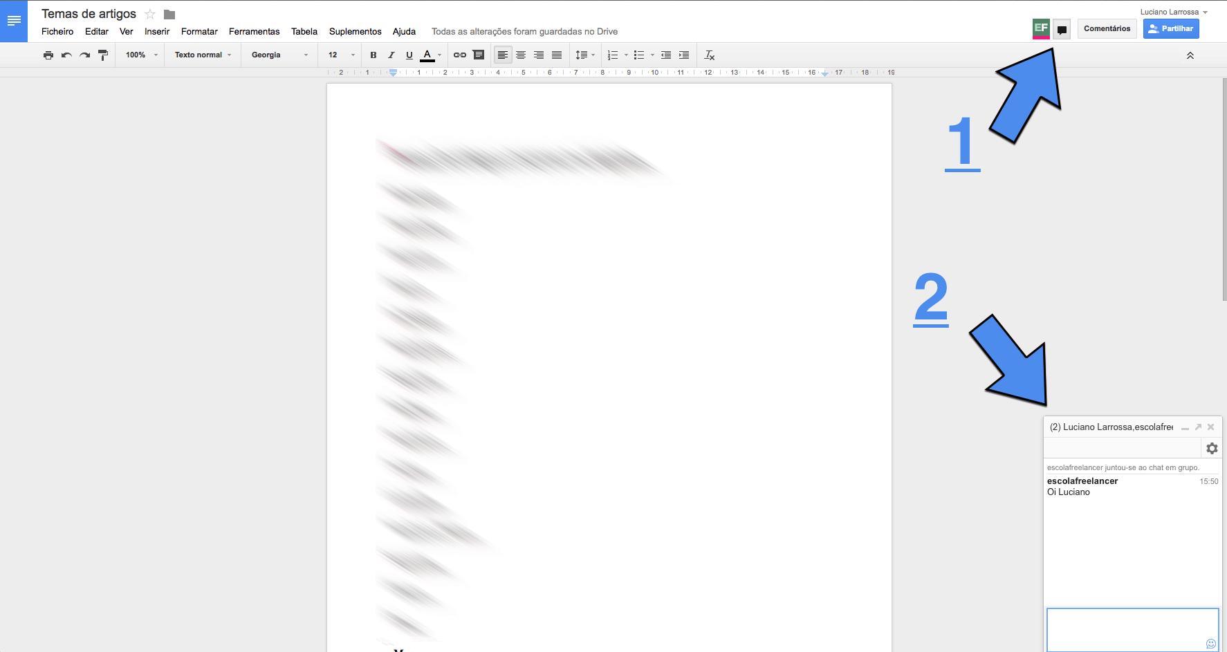 segredos do Google Drive chat