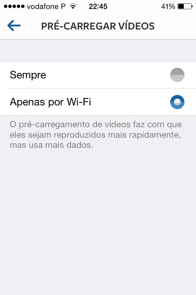 truques e dicas para Instagram Pré-carregar o vídeo com Wi-Fi