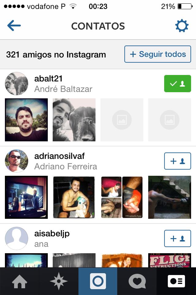 truques e dicas para Instagram Adicionar amigos dos contatos