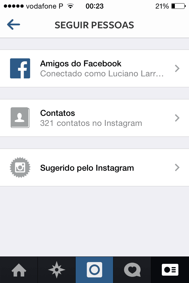 truques e dicas para Instagram Adicionar contatos