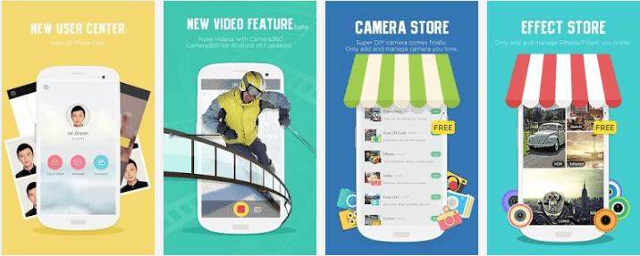 melhorar câmera do Android Camera 360