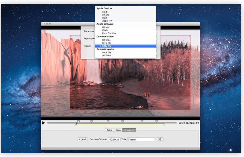 Editor de vídeo para Mac aplicativo