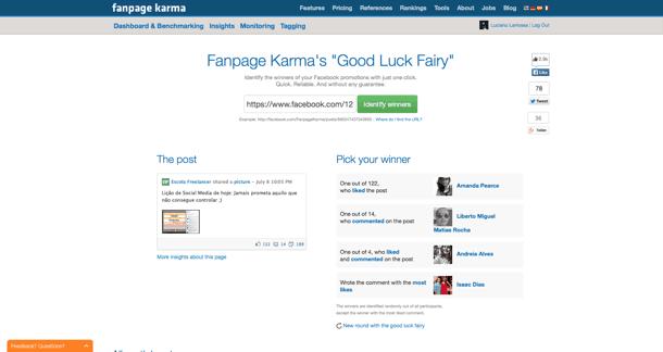 Fan Page Karma sorteio