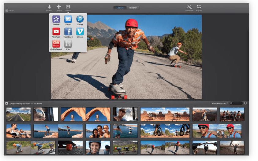 editores de vídeo para Mac Imovie