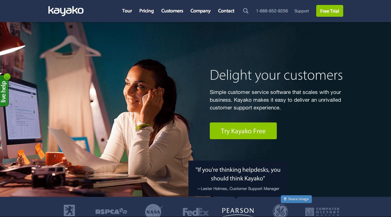 Kayako chat online para ecommerce