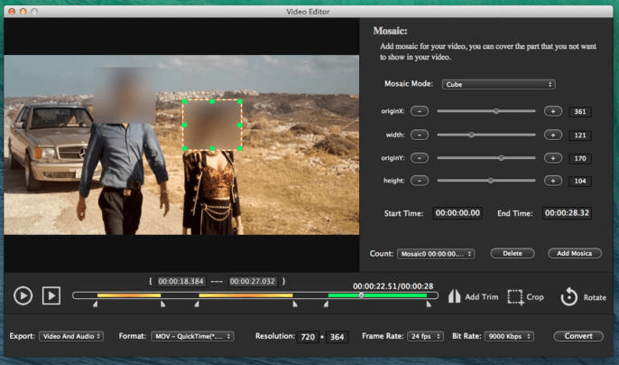 Video Editor Mosaics para Mac