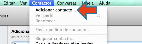 começar a usar o Skype adicionar contato