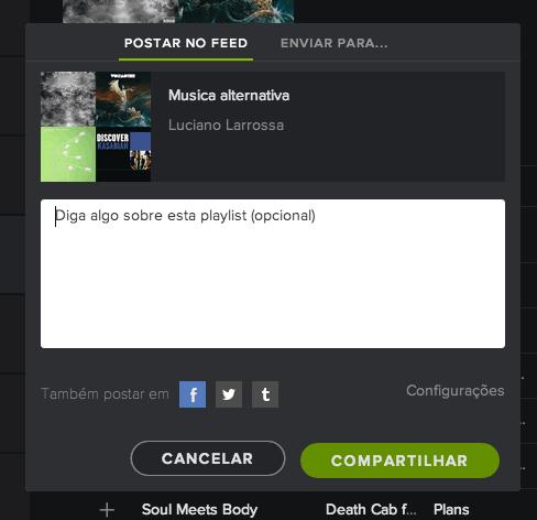 Truques do Spotify compartilhar música