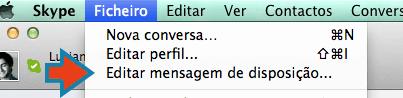 começar a usar o Skype editar mensagem