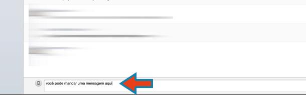 começar a usar o Skype enviar uma mensagem