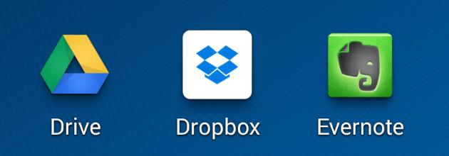 promover eventos evernote dropbox drive