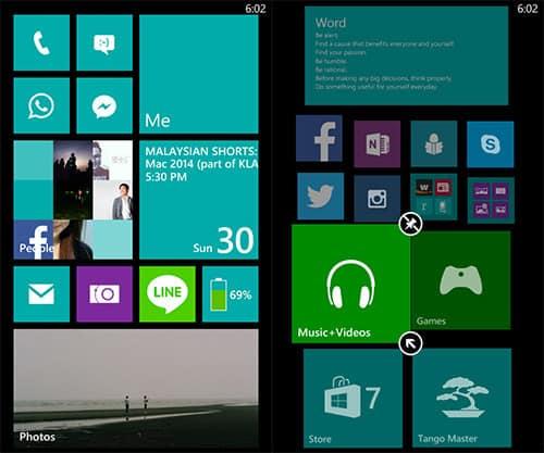 Windows Phone faz melhor tela bloqueada
