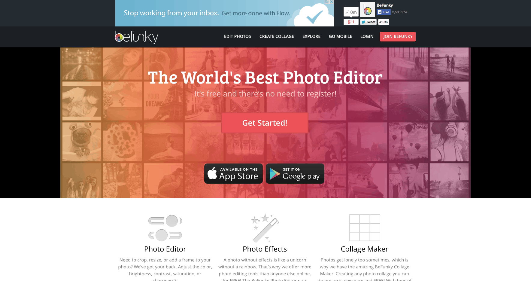criar imagens BeFunky