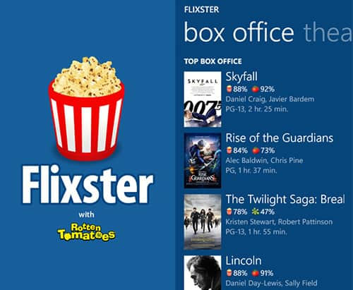 apps de video Flixster