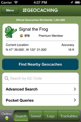 Geocaching apps para iphone