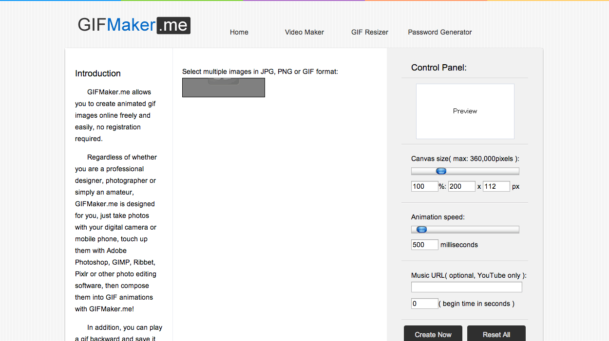 sites para criar GIFs GifMaker