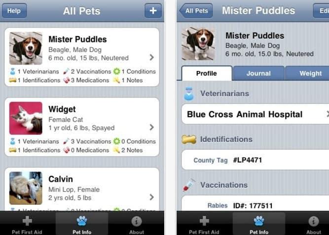 donos de cachorros Pet First Aid