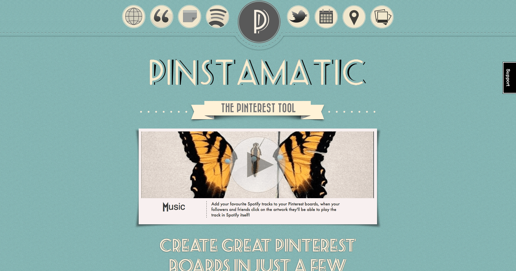 criar imagens Pinstamatic
