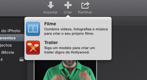 Filme ou Trailer no iMovie