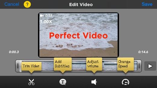 editores de vídeo grátis Perfect Video