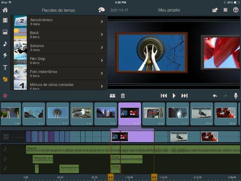 editores de vídeo grátis Pinnacle Studio