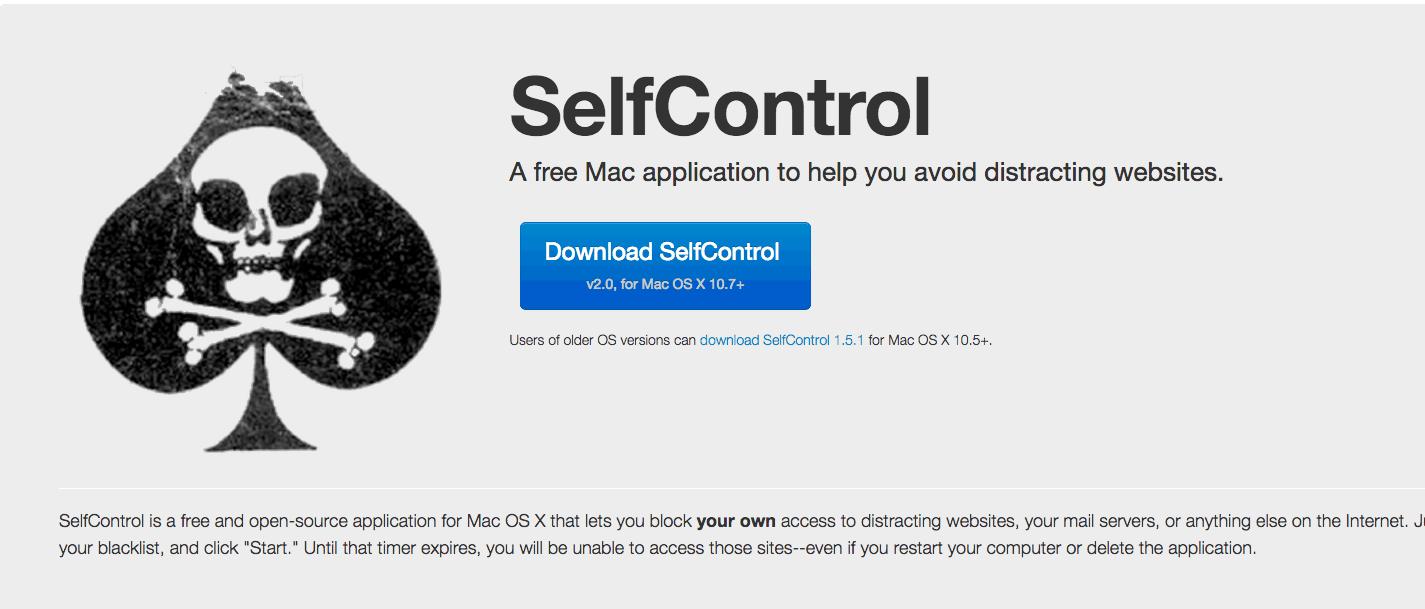 aplicativos para o MacBook Pro Self control