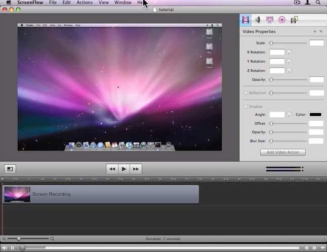 aplicativos para o MacBook Pro screenflow