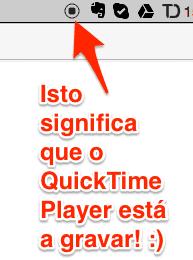 botão de gravação do QuickTime Player