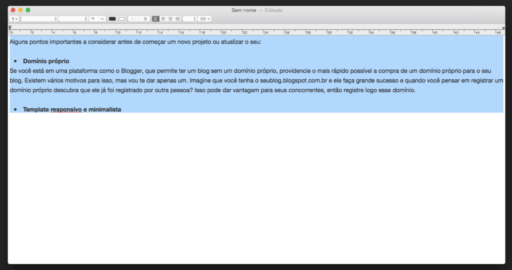 remover formatação no Mac passo 1