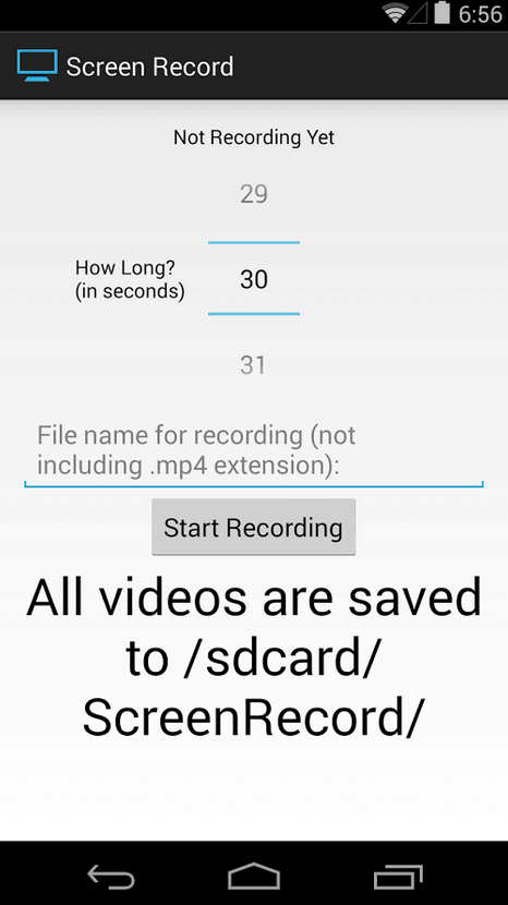 Screen Record for Android App