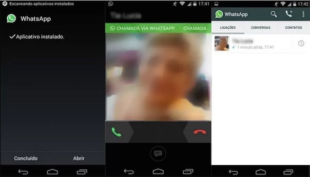 chamadas pelo whatsapp