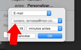 verificar o email no iCal