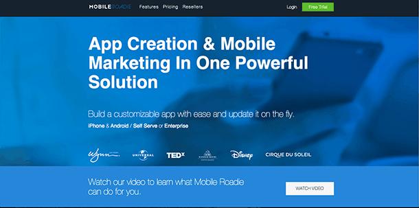 construtor de aplicativos mobile roadie
