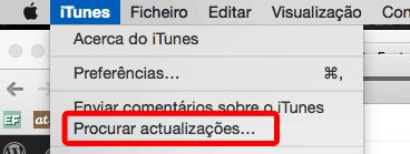 Procurar atualizações do iTunes