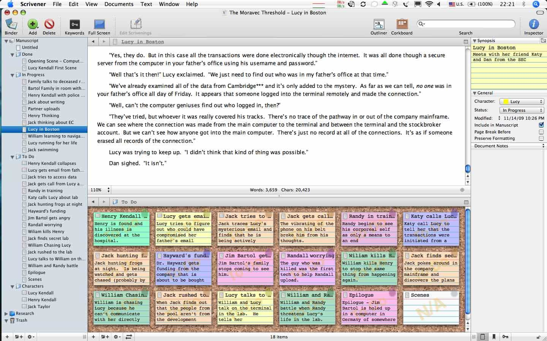 scrivener para escrever no mac